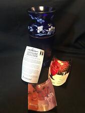 2005 Landmark Collection Blue Glass Vase Fenton Handcrafted 3727/5000