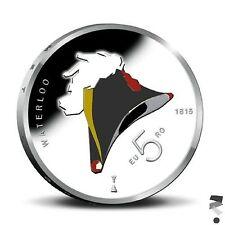 Nederland 5 euromunt Waterloo in kleur