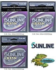 Sunline Crank FC Fluorocarbon Any Pound Test 200 Yard Spool for Crankbaiting