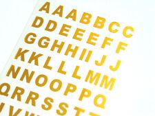 9.5mm Gold on Clear Vinyl Sticky Letters, Alphabet A-Z Stickers, BL82
