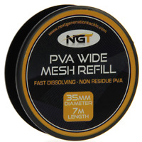 NGT PVA Mesh Refill 35mm x 7 Metres of Wide Mesh NGT Carp Fishing @ TTB
