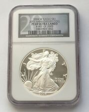 2004 W PROOF SILVER EAGLE DOLLAR 20TH ANNIVERSARY COLL NGC PF 69 ULTRA CAMEO