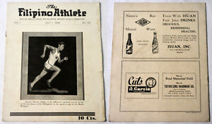 1936 Philippine THE FILIPINO ATHLETE  Far Eastern Championship Games Article Mag