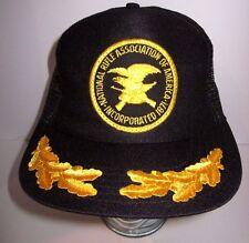 Vintage National Rifle Association NRA Trucker Hat - Oak Leaf - Made In The USA