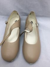 Award Tap Dancing Shoes Tan Girls 686T Sz 2.0S M New In Box