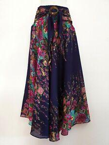 Women Sarong Long Skirt coconut Hippie Gypsy Lagenlook Bohemian Boho Smock CSF