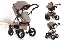 Baby Stroller 3 in 1 with Car Seat For Newborn High View Pram Folding Baby Carri