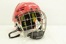 Bauer REAKT Ice Hockey Helmet Combo Red Size Large (0319-B-REAKT-L-R)