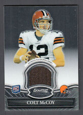 Colt McCoy 2010 Bowman Sterling Rookie Relic Jersey Card