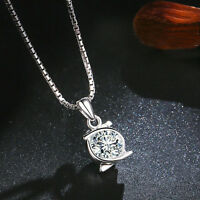 Fashion Cubic Zircon Pendant Silver Necklace Clavicle Chain Jewelry for Women