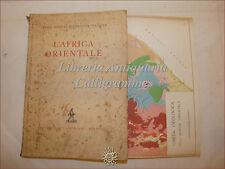 ECONOMIA: Reale Soc. Geogr. Italiana, L'AFRICA ORIENTALE 1935 Zanichelli Tavole