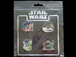 Disney Pin Star Wars in the Parks on Attractions Rides Booster Set  ***NEW***