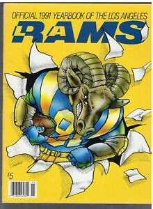 1991 L.A. RAMS YEARBOOK/AT LEAST EX-MINT TO NEAR MINT/A BEAUTY