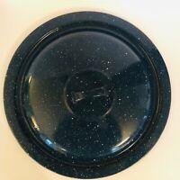 Vintage Blue Enamelware Graniteware Lid Only