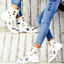 Neu Damen Plateau Sneaker Damenschuhe Designer Stiefeletten Boots Party