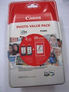 Original Canon Twin Pack Black+Color PG-545 XL + CL-546 XL