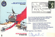 AD1 Blue Eagles Helicopter Air Display RAF flown Cover signed pilot HYDE-SMITH