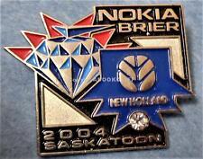 2004 NOKIA BRIER CURLING SASKATOON CANADA NEW HOLLAND Lapel Pin Mint