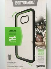 Bodyguardz Contact Case Unequal Technology Samsung Galaxy S7 edge Blk /Clear NEW