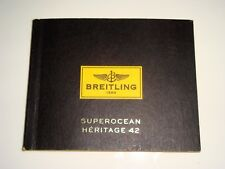 BREITLING WATCHES SUPEROCEAN HERITAGE 42 INSTRUCTION BOOK
