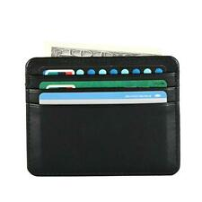 Men's Real Leather Small Id Credit Card Wallet Holder Slim Protable Pocket Case