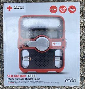 Eton FR600 Solarlink American Red Cross Emergency Radio. Multi-Purpose Radio.