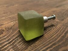 Sea Glass Door Handles Drawer Pulls - Green Set Of 6