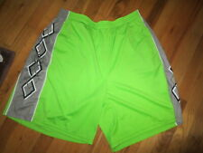 Mens Warrior Lime Green Athletic Shorts Elastic Waist/Drawstring Size 2 X EUC