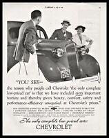 1936 CHEVROLET Antique Car AD shown w/ Michigan License Plate