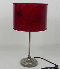 lampe sur pieds ancienne rouge laiton nickelé socle plomb