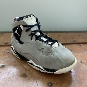 Nike Air Jordan True Flight Shoes Size 10C Grey/Black 343797 020 Infant Toddler