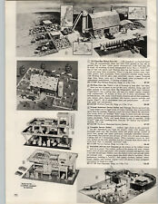 1964 PAPER AD Toy Service Station Skypark Superior Fort Cheyenne Play Set
