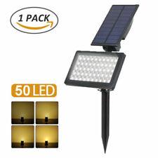 Solar 50-LED Flood Lamp Spotlights Outdoor 50-LED Garden Wall Landscape Lights