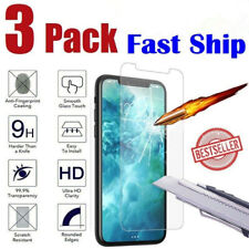 3-Pack For iPhone 11 Pro X Xs Max XR 8 7 6 Plus Tempered GLASS Screen Protector