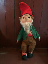 Antique / Vintage Jointed Cloth Elf Doll