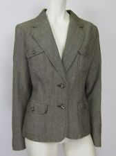NEW YORK & COMPANY SEXY BLAZER WOMEN JACKET BROWN SIZE 4