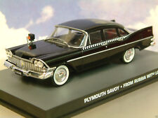 1/43 de Metal James Bond 007 Plymouth Savoy Taxi en Negro From Russia With Love