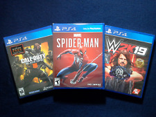Marvel Spider-Man, W2K19 Wrestling & Call of Duty Black Ops 4