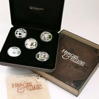2011 Perth Mint Heroes and Villains 1oz Silver Proof Five-Coin Set