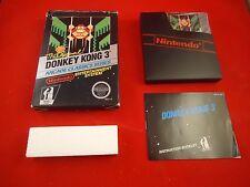 Donkey Kong 3  (Nintendo NES 1986) COMPLETE w/ Box manual game WORKS! donkeykong