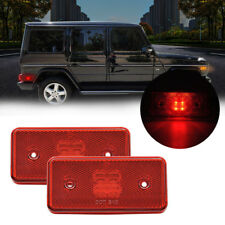 Red Lens Rear LED Side Marker Lights For 02-14 Mercedes W463 G-Class