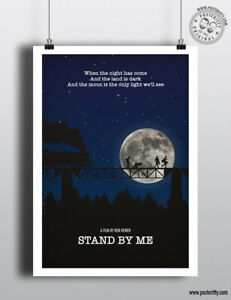 STAND BY ME - Movie Print Minimal Poster Posteritty Film Art Minimalist Quote