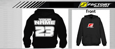 CUSTOM NAME AND NUMBER  HOODIE SWEAT SHIRT MX MOTOCROSS  Style #10