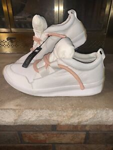 NWT Sorel Sneaker Boot Puffy White Impermeable Out About Bungee Lace Leather 11