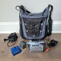 Canon ZR80 Mini Dv Camcorder For Player Or Video Transfer With Bag Extra Battery