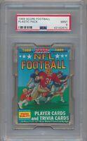 1989 Score Football Factory Sealed Plastic Pack PSA 9 Mint #2670