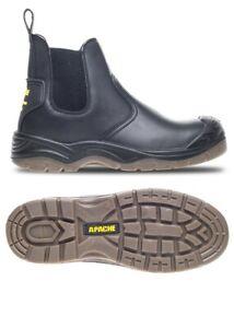 APACHE BLACK SLIP ON DEALER BOOT, PAIR