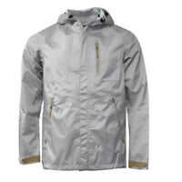 Nike Zip Silver Hooded Mens Storm Fit Waterproof Jacket Coat 439671 001 CC93