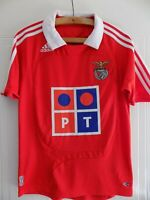 Benfica Football Shirt Adidas Home 2007 2008 Mint Camiseta Club Retro Soccer Top