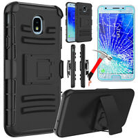 Samsung Galaxy J3 V 2018/Achieve/Star/Orbit Holster Phone Case +Screen Protector